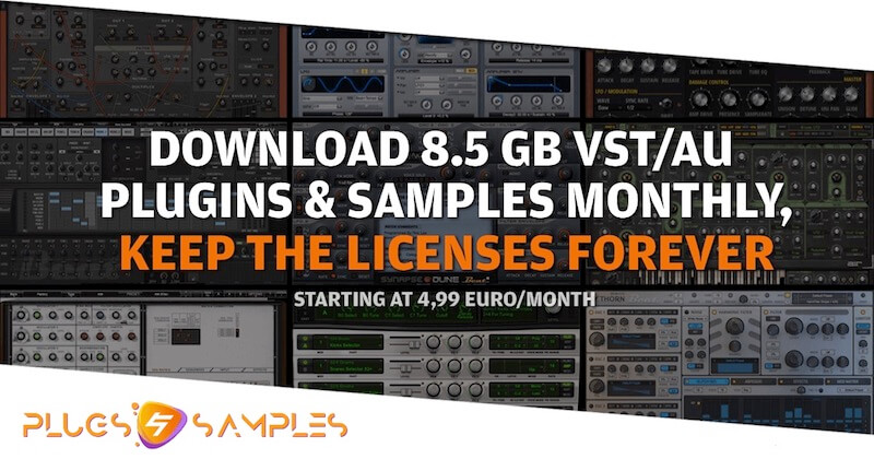 Plugs & Samples com – Subscribe and own your synths